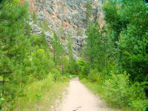 Canyon Wall along the Trail