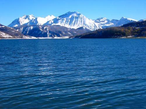Lago di Campotosto with Gran...
