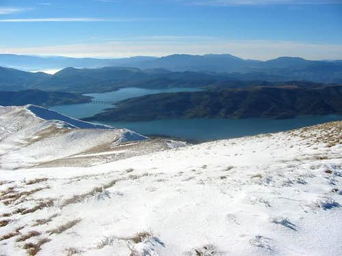 Lago di Campotosto seen from...