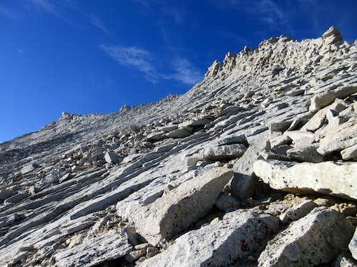 Mt Tyndall 2nd North Rib Detail