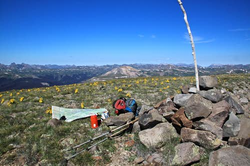 Pole Creek Mountain's summit
