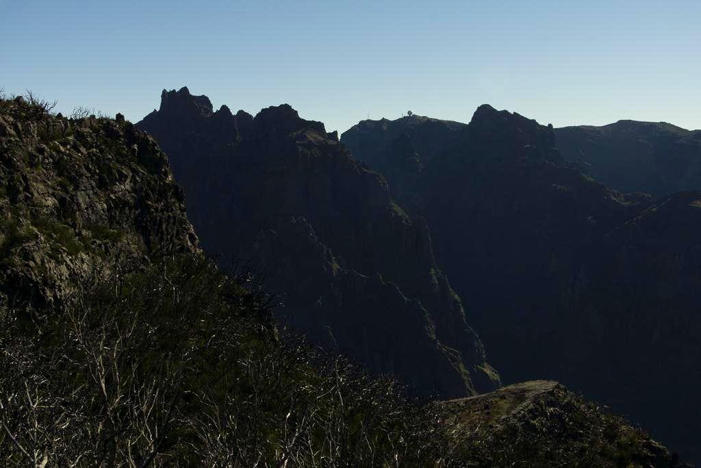 Pico das Torres (1852m), Pico do Arieiro (1816m), Pico Cidrao (1797m)