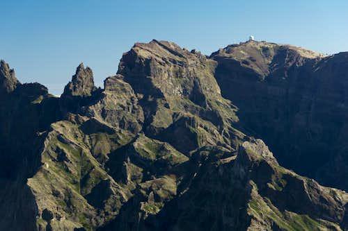 Pico do Gato (1782m), Pico Cidrao (1797m), Pico Arieiro (1816m)