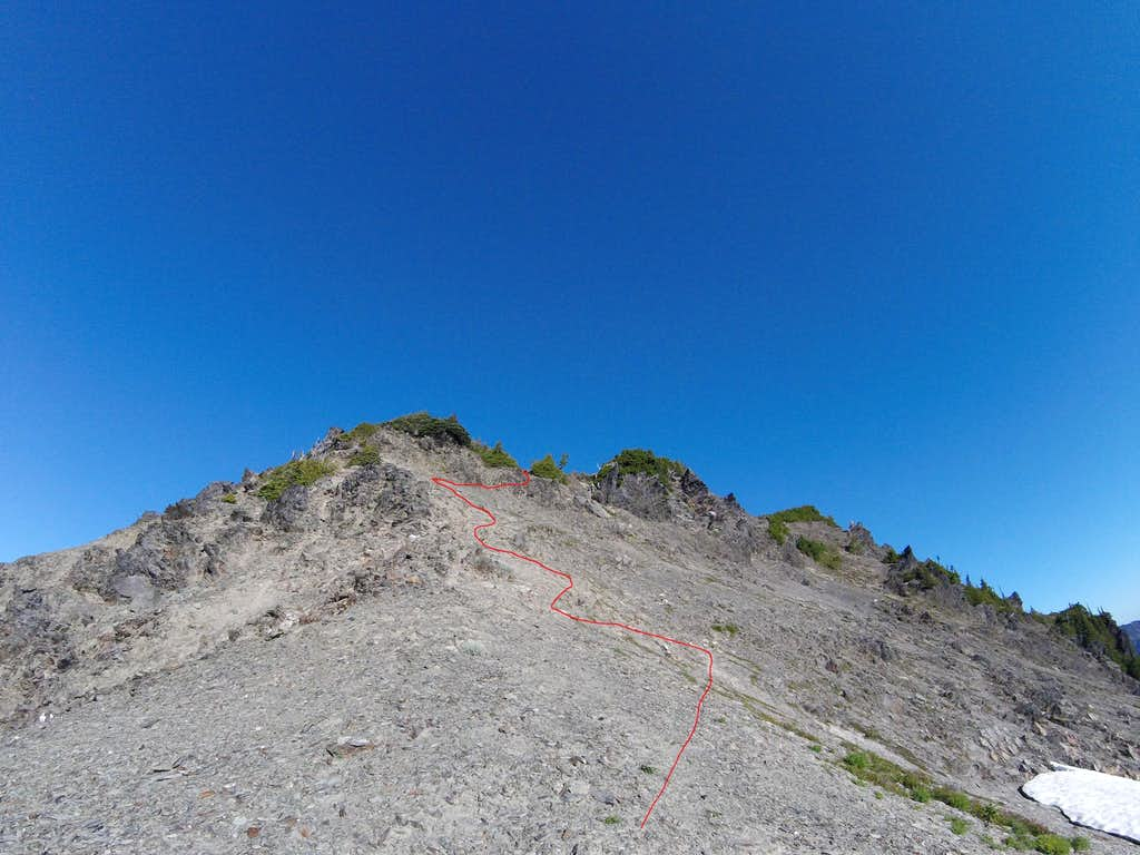 Ferry ridge ascent