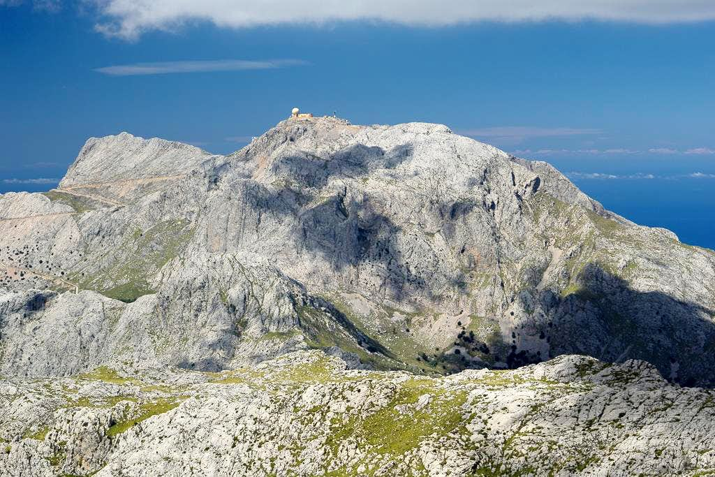 Penyal des Migdia (1398m) and Puig Major (1447m)