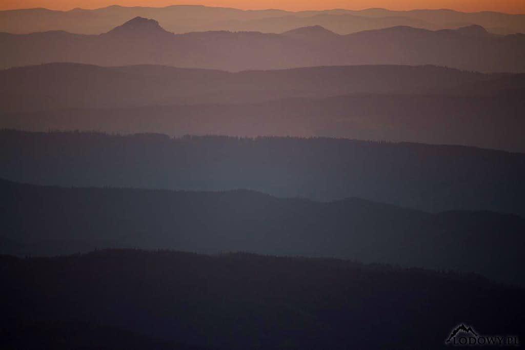 Eastern Carpathians at dawn