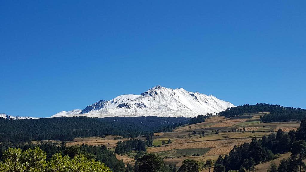 Nevado de Toluca after fresh snow