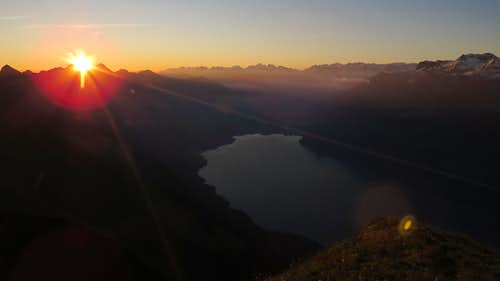 Sunrise from top of Augstmatthorn