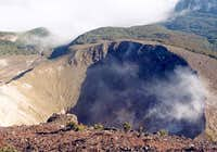Mount Gede craters