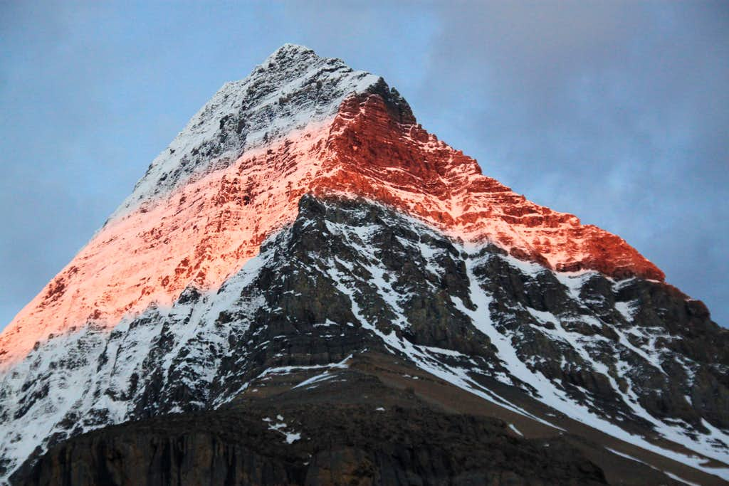 Mt. Robson (view from Emperor Falls campground)