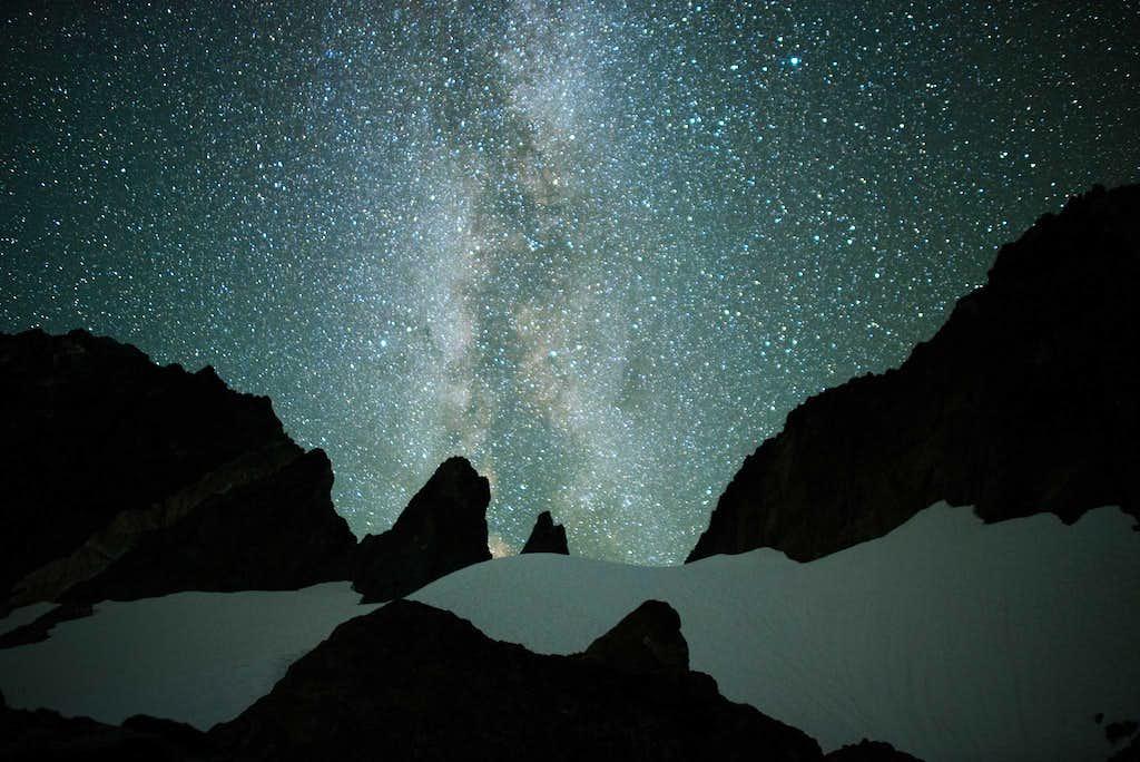 Colonel Foster's upper glacier and the night sky.