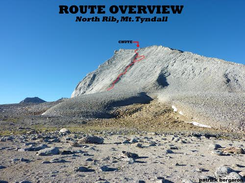 Mt Tyndall, North Rib Route