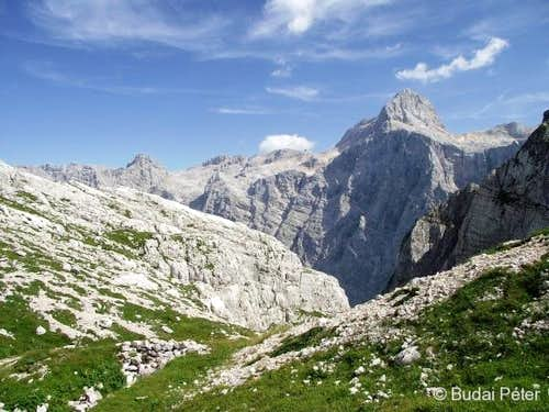 Splendid view on the King of the Julian Alps