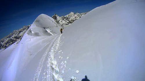 On the Breithorn ridge