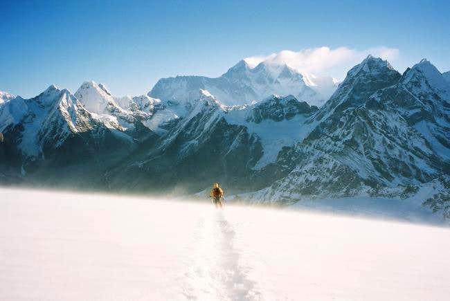 Desceding Mera Peak, with...