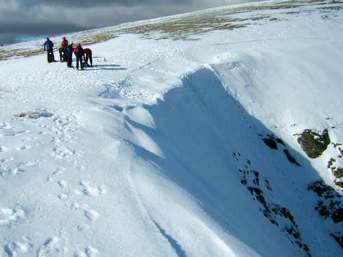 The top of Swallow gully,...