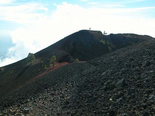 The eastern summit of Volcán...