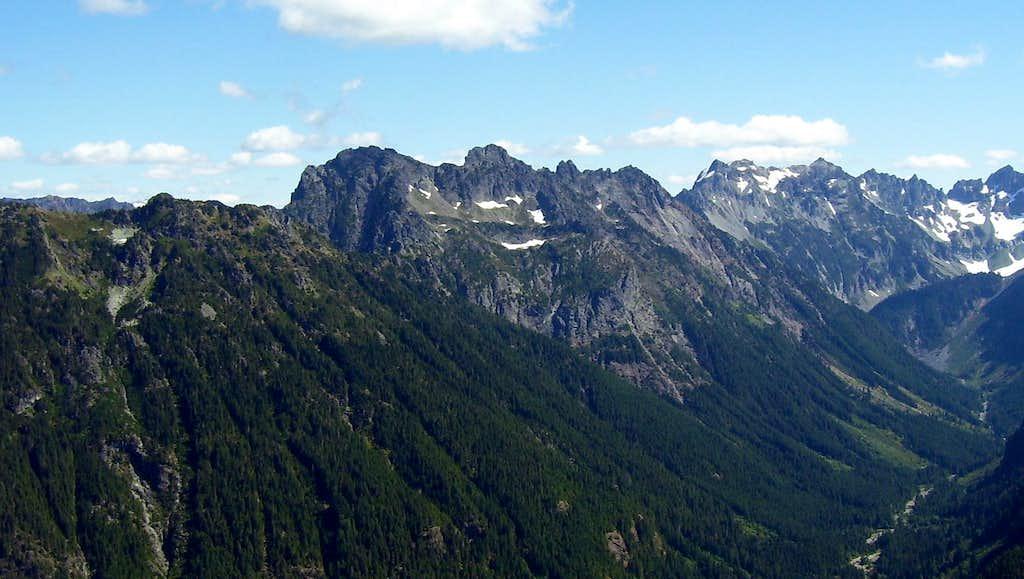 Gemini Peaks from Lewis Peak