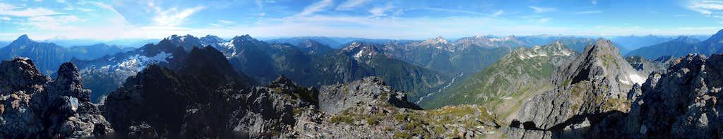 South Gemini Peak summit pano