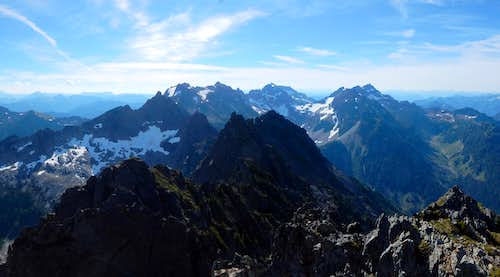 Monte Cristo subrange from South Gemini Peak