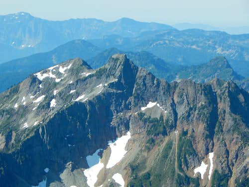 Silvertip Peak from South Gemini Peak