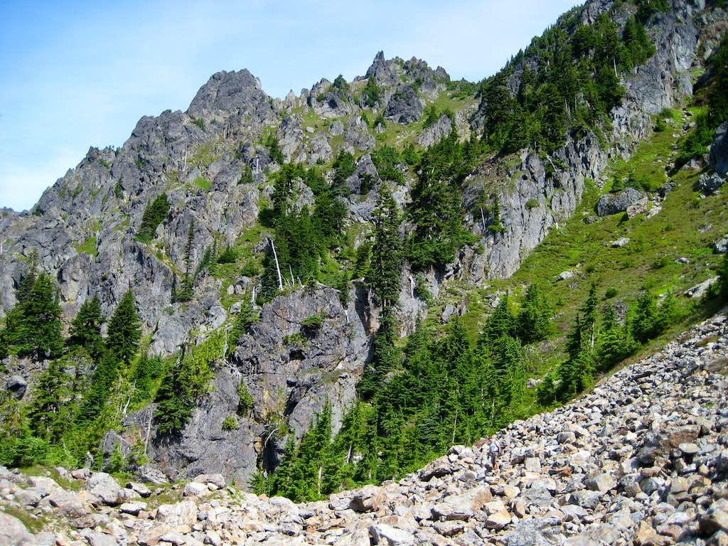 South Gemini Peak summit from 5700'