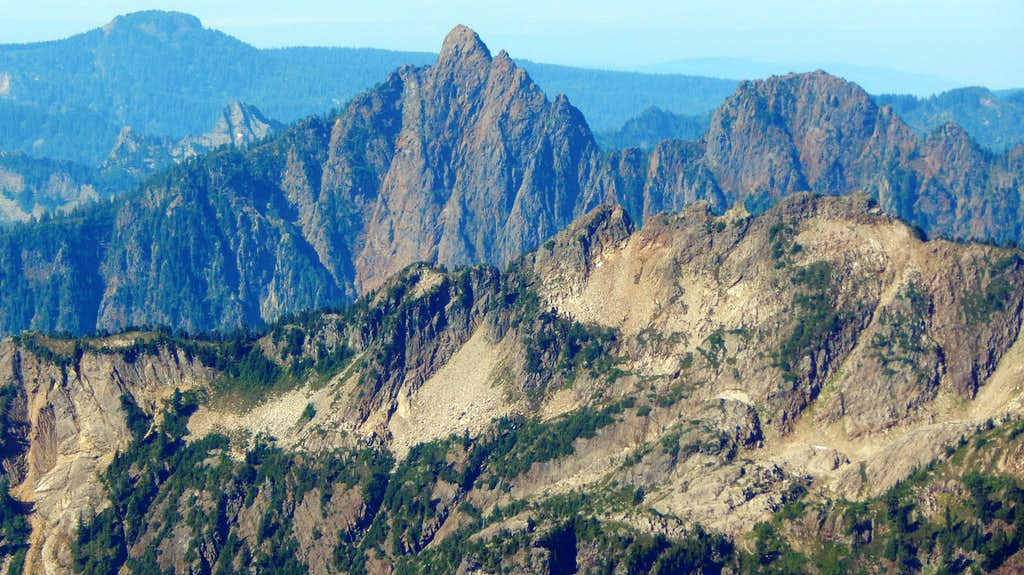 Red Mountain from South Gemini Peak