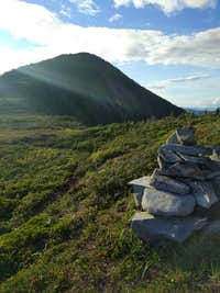 Saddle below the summit
