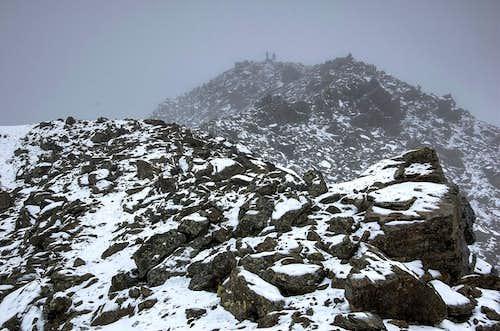Snowfall over Urkundkolm