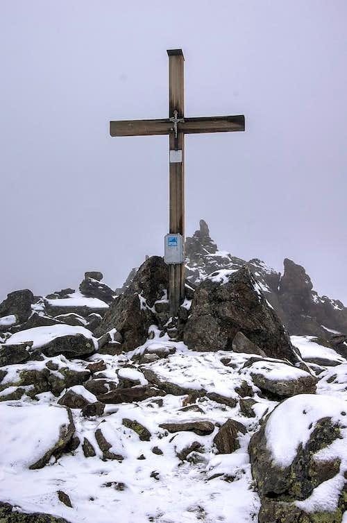 Summit cross on the top of Urkundkolm