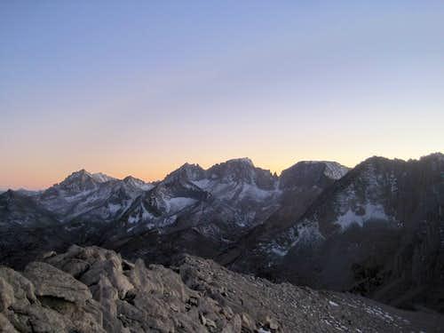 Dusk atop Mount Starr