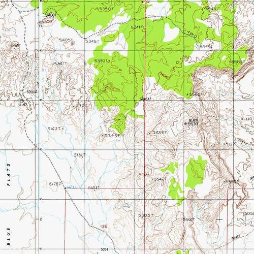 Map with Black VABM
