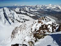 West ridge from the summit