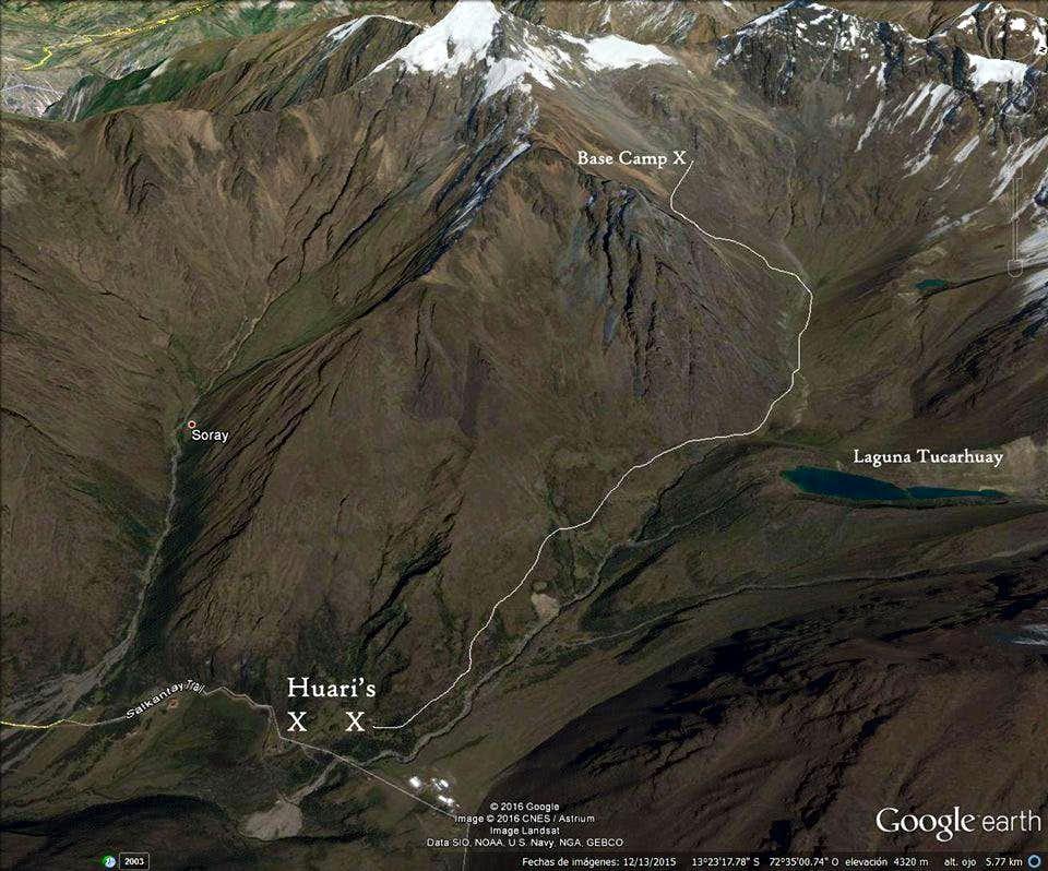 Cerro Soray Approach Map