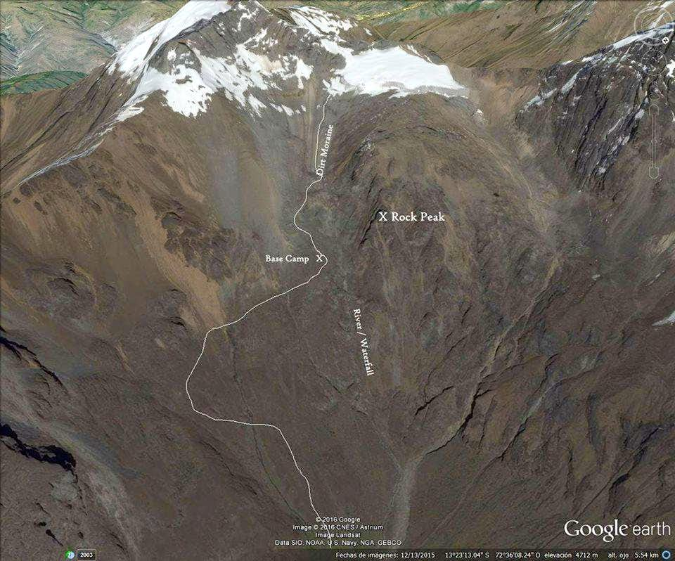 Detail map of area around base camp