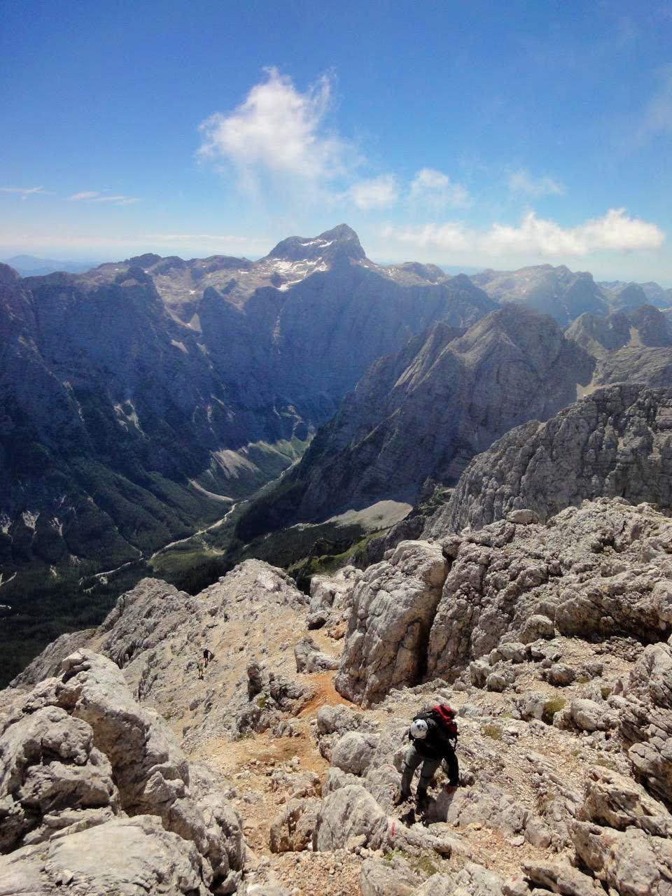 At the ridge....