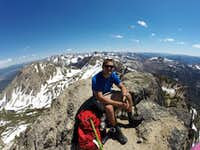 Enjoying some Champagne for my first Sawtooth Summit