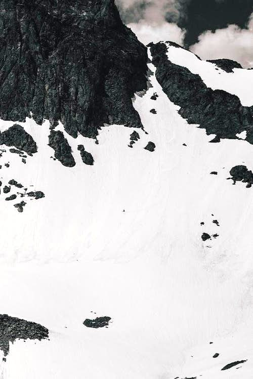 Static Peak First Ski/Snowboard Descent (Static Couloir)