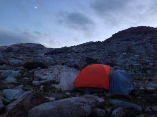 Basecamp Sunset and Moonrise