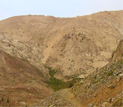The Sawtooth pass trail...