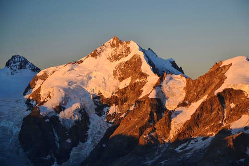 Piz Bernina at sunrise