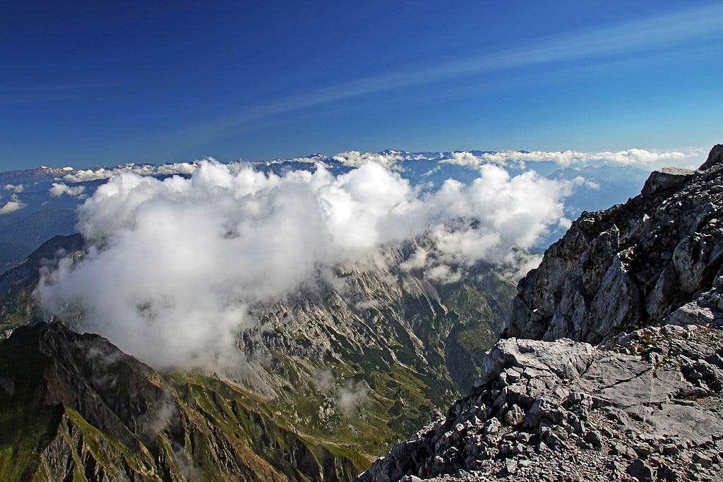 From Monte Coglians / Hohe Warte towards Hochalmspitze