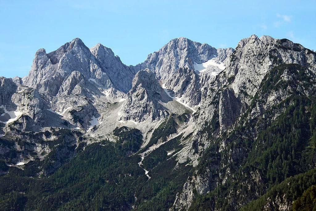 Mountains above Vellacher Kotschna / Belska Kocna