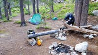 Camp at Duffy Lake