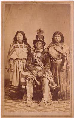 Chief Curecanti and 2 women