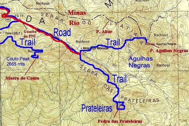 Topografic map.