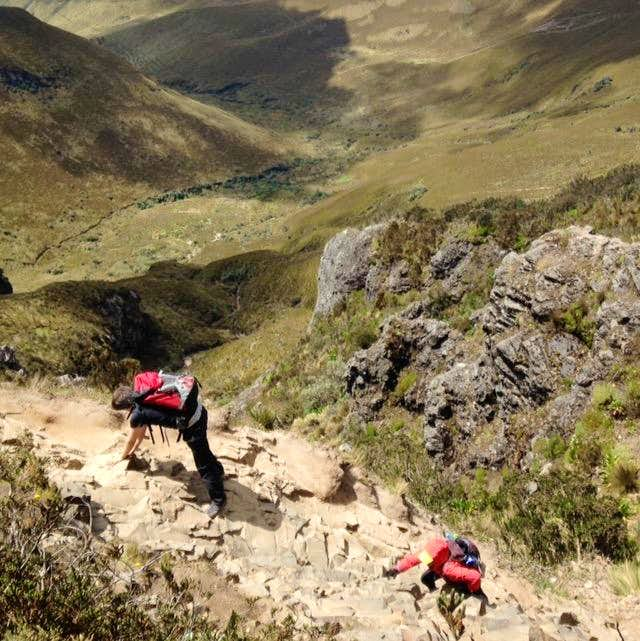 Scrambling at Ruco Pichincha