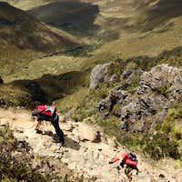 Scrambling at Ruco Pichincha