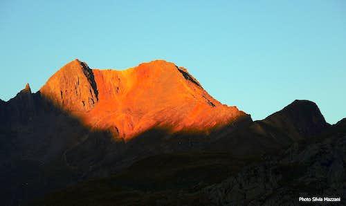 Croda Rossa at sunset