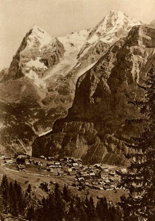 Eiger - Mönch vus de Mürren